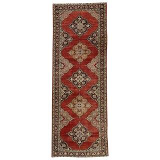 Vintage Turkish Oushak Gallery Rug Runner - 4'11 X 13'6 For Sale