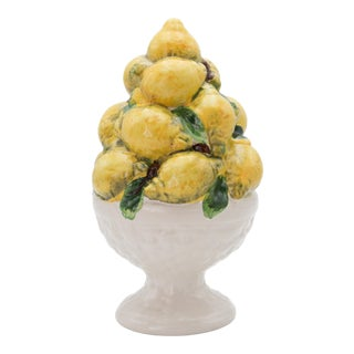 Vintage Italian Majolica Lemons Topiary For Sale