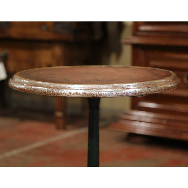 Late 19th Century 19th Century Napoleon III French Iron and Wood Gueridon Pedestal Table For Sale - Image 5 of 7