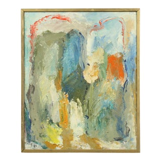"""1985 Abstract Oil Painting """"Fryst Jgor"""" by Paul Enemark 1985 For Sale"""