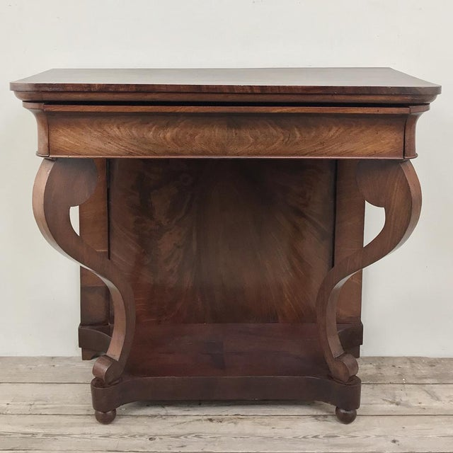 19th Century French Louis Philippe Console represents the essence of the style, with tailored lines, graceful scrolled...
