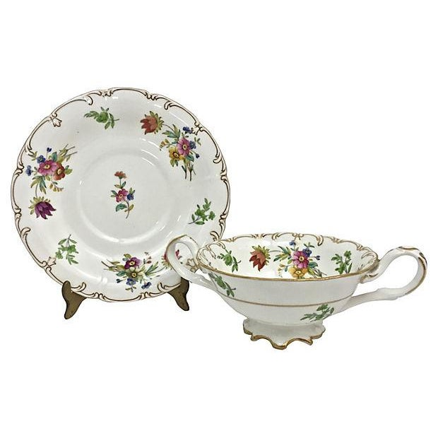 English Soup Cups & Saucers - Set of 6 - Image 5 of 10