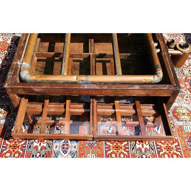 Primitive Super Hatcher Farm Copper Steam Incubator Farmhouse Coffee Table - Image 6 of 10