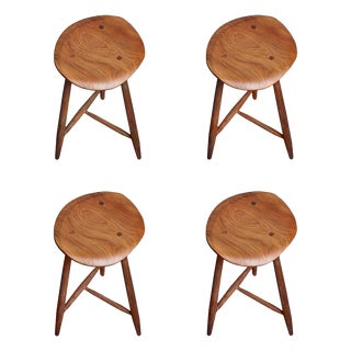 Handcrafted Studio Three Legged Stool by Fabian Fischer, Germany 2019 For Sale