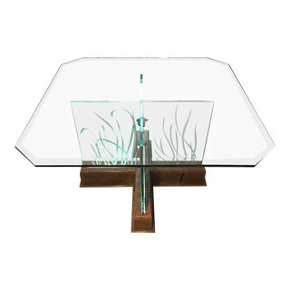 Illuminated Square Dining Table For Sale