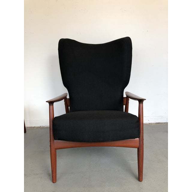 1960s Danish Modern Reclining Lounge Chair and Ottoman - 2 Pieces For Sale - Image 9 of 13