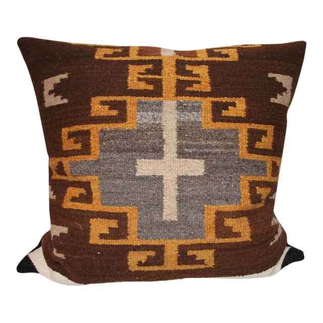Rare Early Navajo Saddle Blanket Pillow For Sale