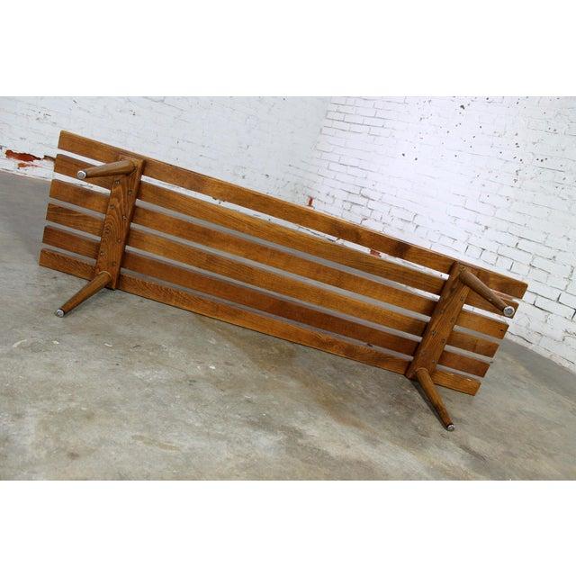 Yugoslavian Slatted Bench Coffee Table Vintage Mid Century