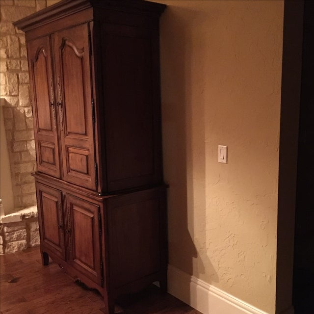 Lexington Traditional Large Cherry Wood Armoire - Image 3 of 10