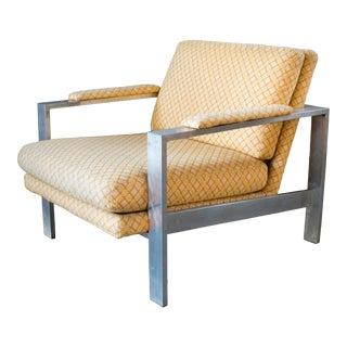 1970s Milo Baughman Chrome Lounge Chair For Sale