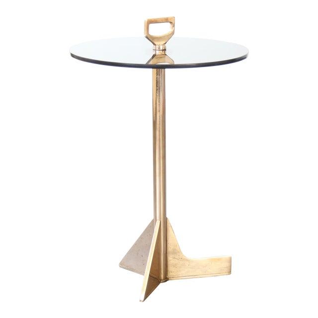 Modern Costantini Bellance Bronze and Glass Cigarette Table For Sale