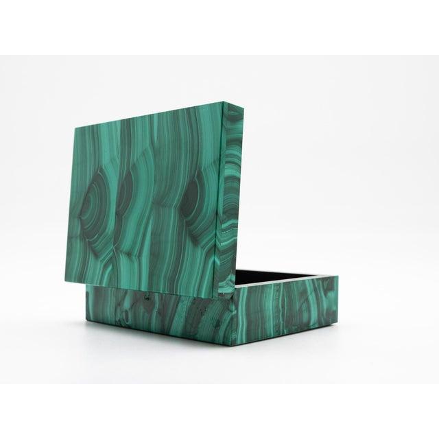 Malachite Semi-Precious Stone Box For Sale - Image 4 of 8