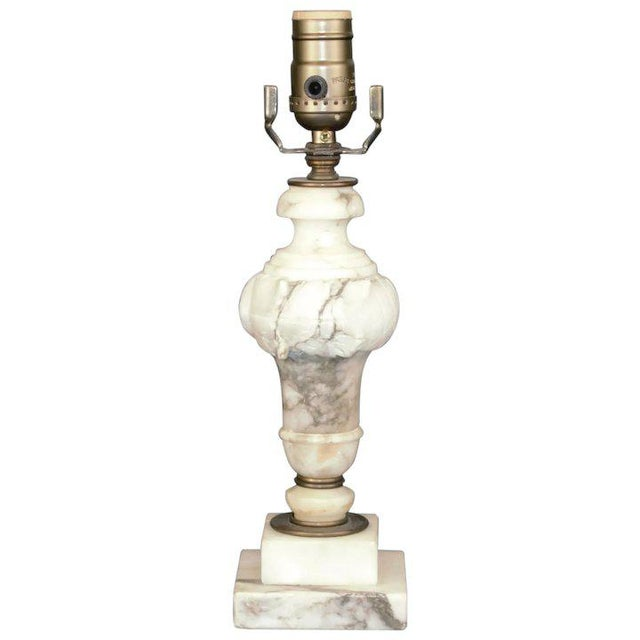 Carved Alabaster Table Lamp For Sale In Denver - Image 6 of 6