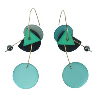 Post Modern Geometric Dangle Earrings For Sale