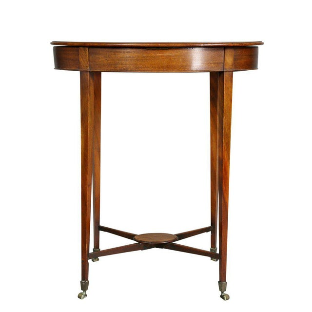 Brown George III Mahogany Work or End Table For Sale - Image 8 of 9