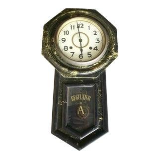 Antique 8 Day Regulator Clock Takano Clock, Japan For Sale