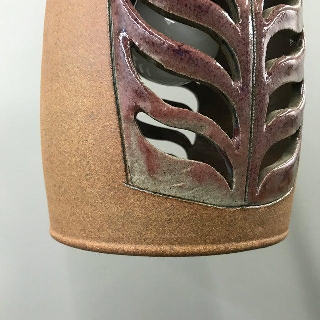 Ceramic Brent Bennett Ceramic Pendant Lamp For Sale - Image 7 of 9