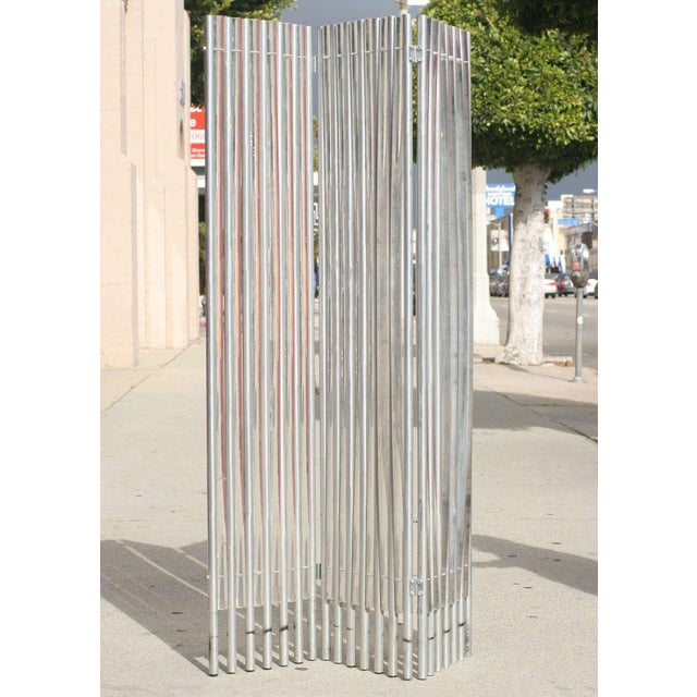 Lucite and Aluminum Wall Divider by Charles Hollis Jones - Image 2 of 6