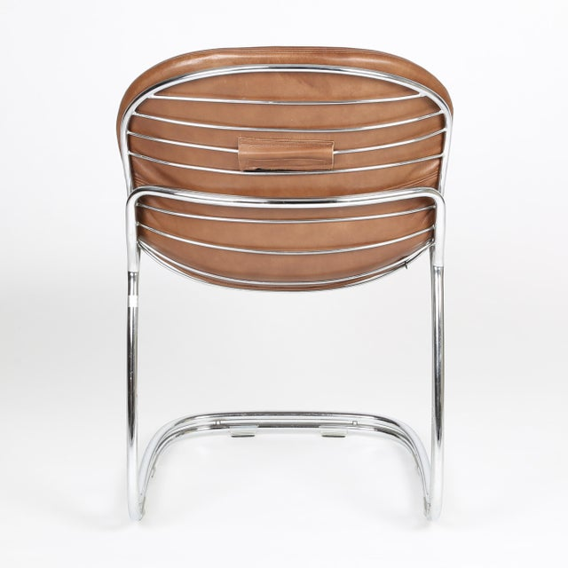 """1970s 1950's VINTAGE GASTONE RINALDI FOR RIMA """"SABRINA"""" CHAIRS- SET OF 4 For Sale - Image 5 of 8"""