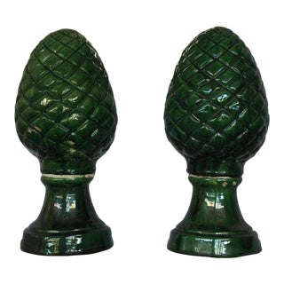 Pair of Pinecone Decorations For Sale