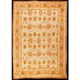 Exceptional Very Early Antique Turkish Oushak Carpet For Sale