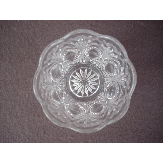Traditional Vintage Pressed Glass Spooner For Sale - Image 3 of 3