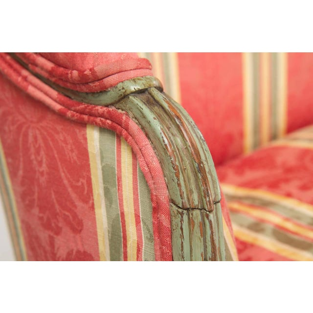 Green French Louis XVI Period Antique Green Painted Sofa Canapé Settee, 18th Century For Sale - Image 8 of 10