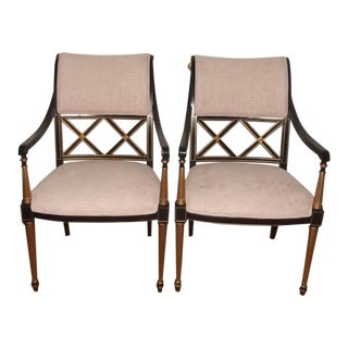 20th Century Dorothy Draper Regency Chairs for Henredon - a Pair For Sale