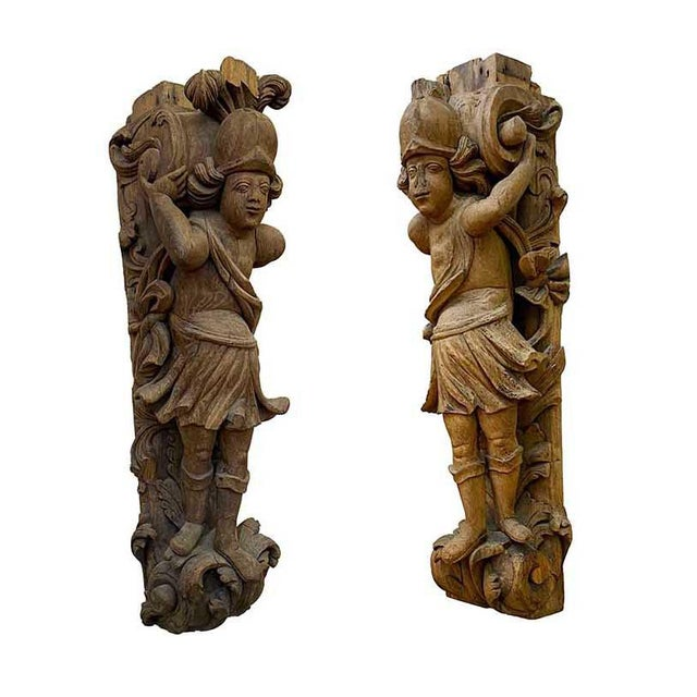 17th Century Carved Italian Figures - a Pair For Sale In Dallas - Image 6 of 6