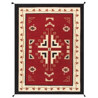 """Pasargad Home Navajo-Style Wool Area Rug- 8' 10"""" X 11' 0"""" For Sale"""