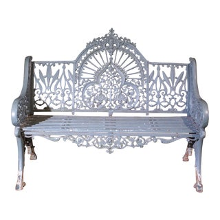 20th Century Victorian Decorative Iron Garden Bench