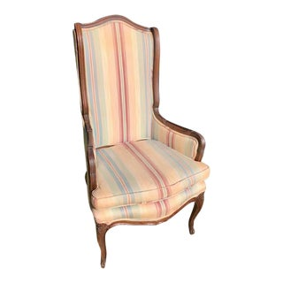1930s Vintage French Wingback Chair For Sale