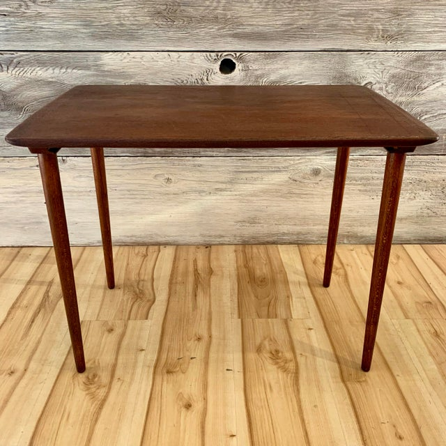 Mid 20th Century 20th Century Danish Modern Teak Nesting Table's - Set of 3 For Sale - Image 5 of 13