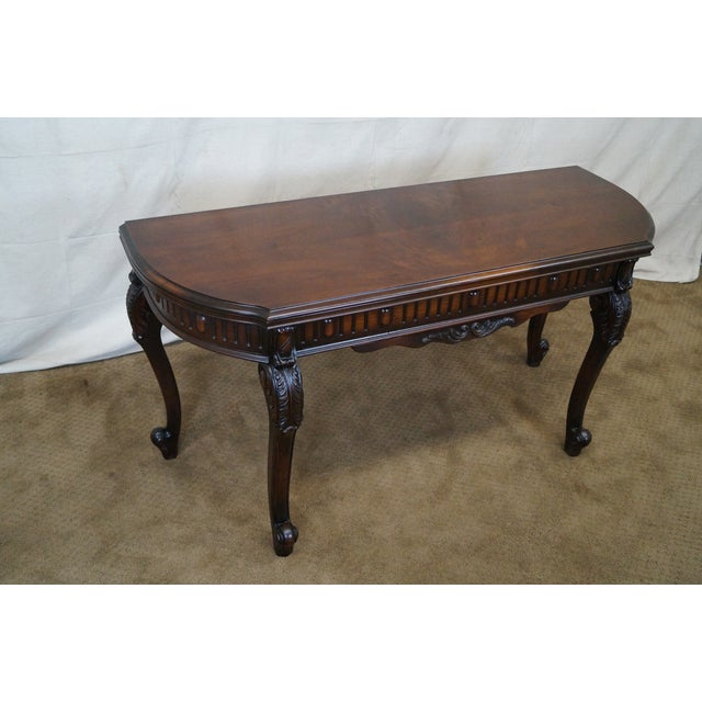 Antique Walnut Console Game Table - Image 2 of 10