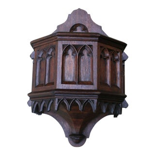 Antique French Gothic Offertory Box For Sale