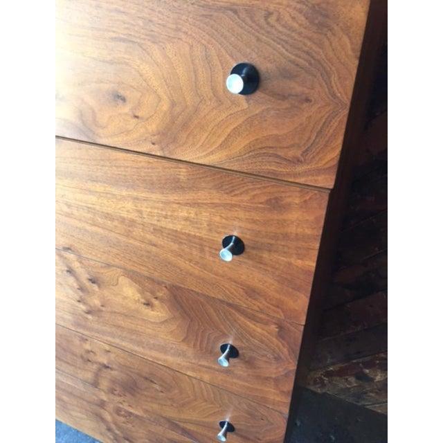 Vintage Stanley Walnut Highboy Dresser - Image 4 of 8
