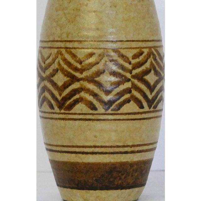 1970s Boho Craft Pottery Vase For Sale - Image 5 of 6