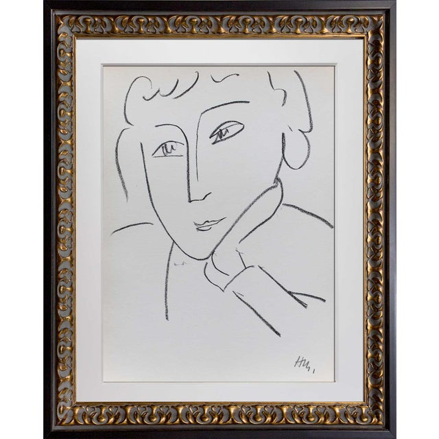 Henri Matisse Framed Woman Study Lithograph - Image 2 of 4