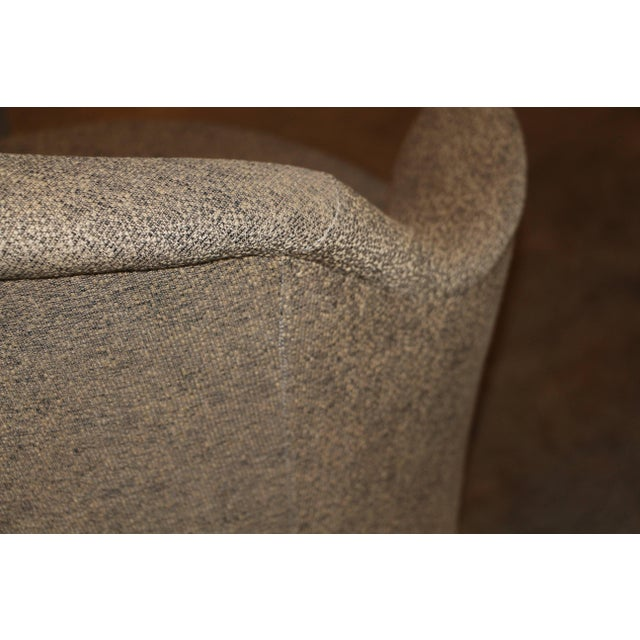Brown J. Robert Scott Swivel Chairs- A Pair For Sale - Image 8 of 9