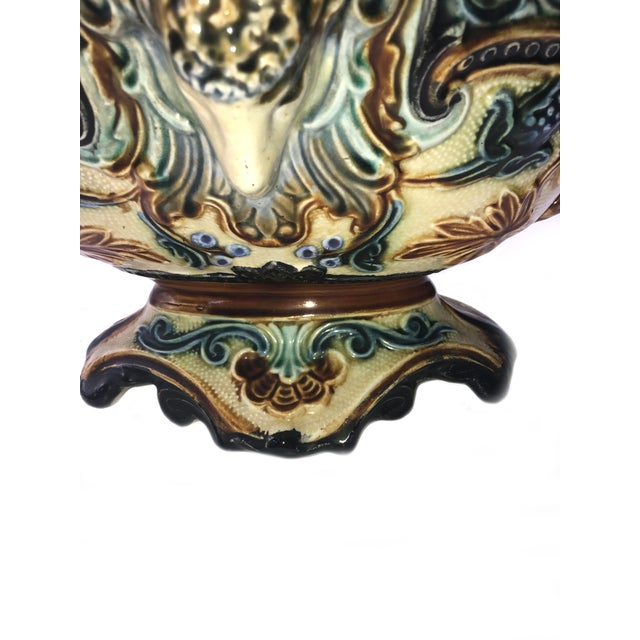 19th Century 19th Century French Majolica Urn Planter For Sale - Image 5 of 9