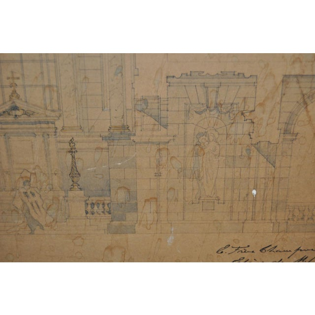 18th/19th Century Master Architectural Drawings For Sale - Image 9 of 11