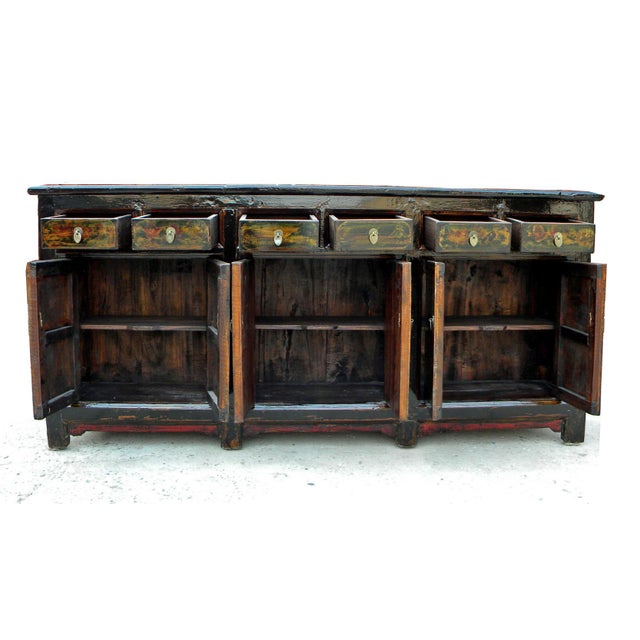 1910s Asian Antique Green Qinghai Sideboard For Sale - Image 12 of 13