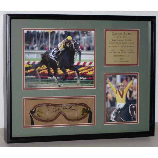 Gold Calvin Borel Three Time Kentucky Derby Winner Signed Racing Memorabilia For Sale - Image 8 of 8
