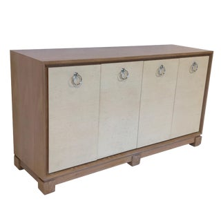 Mid-Century Modern Pickled Oak Credenza, American 1960's For Sale