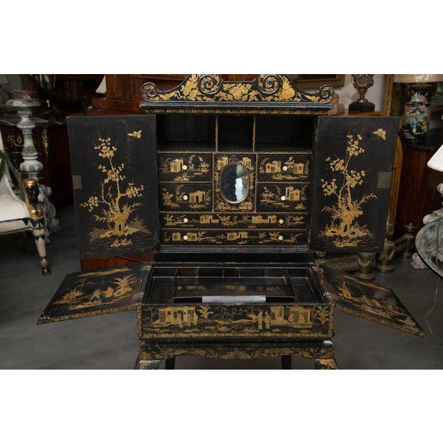 19th Century English Queen Anne Chinoiserie Chest on Stand - Image 6 of 10
