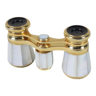 Late 19th Century French Mother of Pearl Opera Glasses For Sale