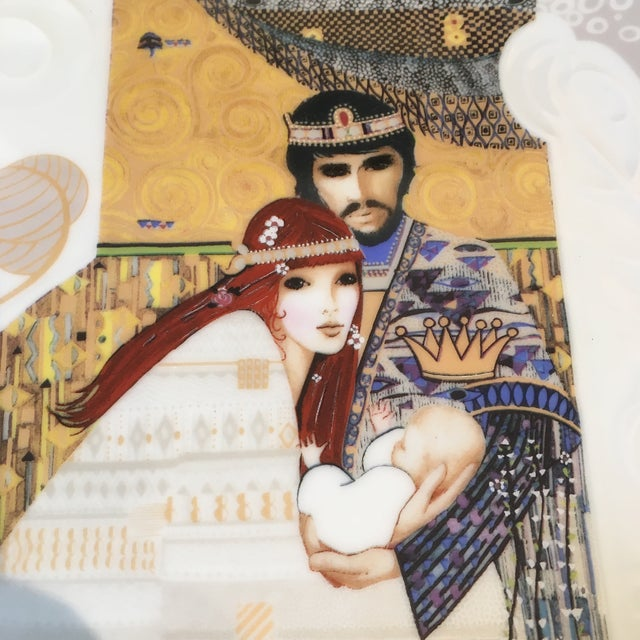 Ceramic Bathsheba and Solomon Knowles China Plate For Sale - Image 7 of 7