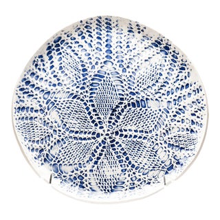 Yokky Wong Knitwork Porcelain Plate For Sale