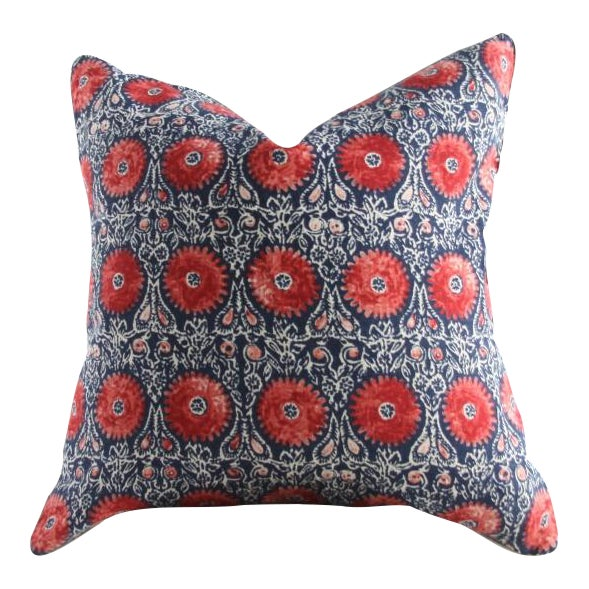 Riya Suzani Medallion Pillow - Image 1 of 3