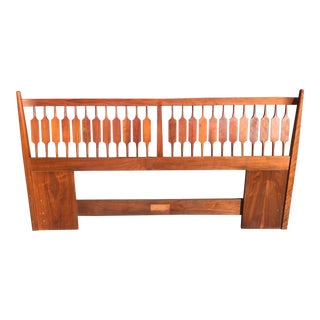 1960's Mid-Century Modern Kipp Stewart for Drexel Declaration King Headboard For Sale
